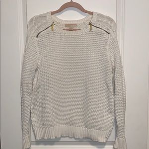 Cable Knit Sweater with Zipper